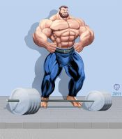 Super Bluto all muscled up by Blathering