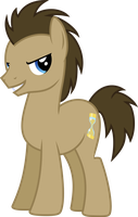 Dr Whooves looking Confident by Uponia
