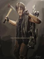 The walking dead.  Daryl by HuzRedy