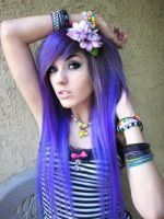 Leda- Purple Hair by LedaMonsterBunnyLove
