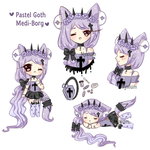 Pastel Goth Medi-Borg [CLOSED] by Nyxium