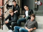 Big Time Rush sitting on the stairs by Namine24