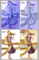 Tangled-The process by MilGoncalez