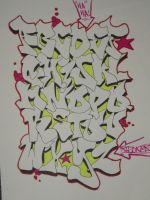graffiti alphabet by tonkiboi
