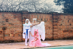 Helios, Chibiusa and Serenity, Family by LaurelinAureo