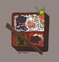 Teekyo Entry One : Bento Dogs by Ink-Jam