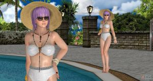 Dead or alive Ayane Bikini pinup(linkzip download) by Gwen35500