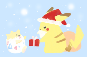 POKEDDEX Day 25 - Holiday Scene by jojostory