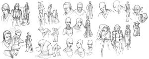 Star Wars Clone Wars sketches by ComfortLove
