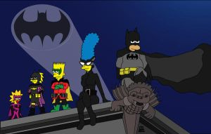 The-Batman-family/Simpsons-family by megaC5