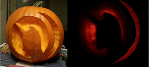 Mare in the Moon Pumpkin Carving by Slasher0001