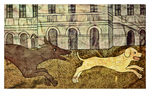 'Dogs and buildings' by Drake Magus by OttoMagusDigitalArt