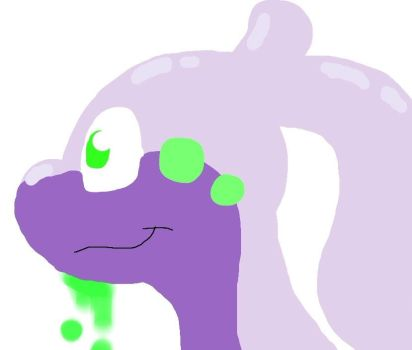 Goodra drawn with my finger on a crappy iPad app by BluLatias