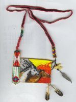 Running Horses Panel Necklace by Black-Feather
