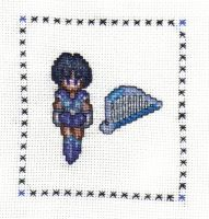 Sailor Mercury Cross Stitch by JealaTriumph