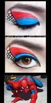 The Hereos: Spider-Man Make Up by Lally-Hime