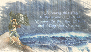Flag that I trust, Luffy wallpaper by AnnaHiwatari