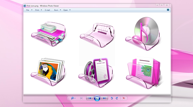 Pink Libraries icons by khatmau