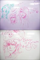 Bleach whiteboard doodles by Pirate-Cashoo