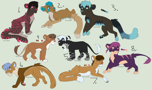 Palette adopts! and More! Open! by Jinx1223