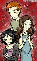 Edward, Bella and Alice Cullen by thepam