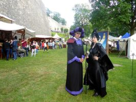 Frollo and Maleficient  (small medieval festival) by LunaBergkristall