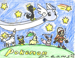 Old Comic - Pokemon Dreams by rose-star