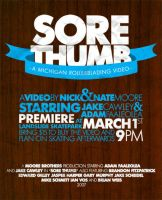 Sore Thumb Premiere Flyer. by paperairplane
