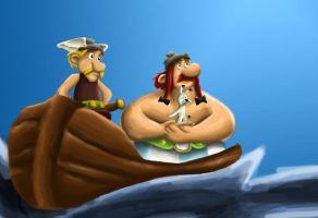 Asterix and Obelix by Fonzzz002