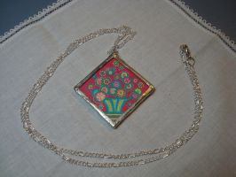 Soldered Glass Pendants by mandalagal