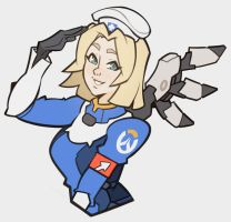 Overwatch, Mercy by SplashBrush