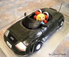 Audi TT Car Cake by ginas-cakes