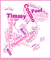 Wanda Fairywinkle-Cosma Word Cloud Typograpy by 120dog