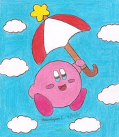 Parasol Kirby by MarioSimpson1