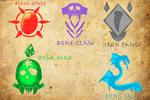 Crut'Cha clans symbols by Montiessor