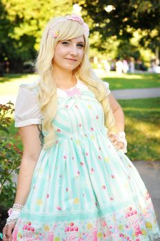 Fruits Parlour Lolita Outfit by laurabububun