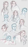 Hunger Games sketchdump by Ninidu