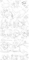Mssage comic LxDL sketch by AngelofHapiness