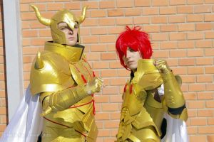 Saint Seiya Episode G - Aioria and Aldebaran by brunolaiho