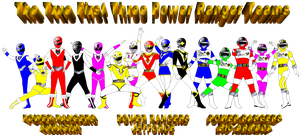 The True First Three Power Ranger Teams Pikatwig by rangeranime