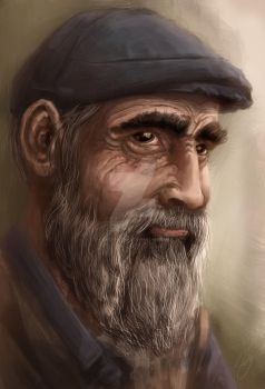 Old man portrait study by renatoklieger