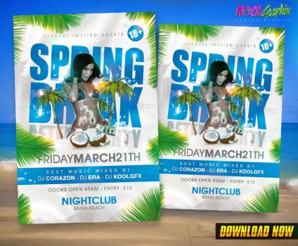 Spring Break After Party Flyer by KoolGfx