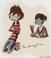 Marshall Lee and Mommy by jeremyruihley