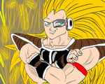 RQ: raditz ssj3 (black scouter) by adminelover