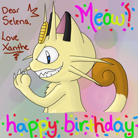 Meowth Birthday Picture by GoldFlareon