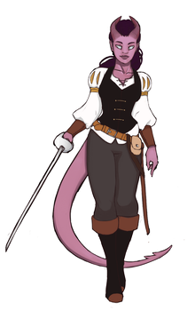 Tiefling_Bard_Grace by kougraness