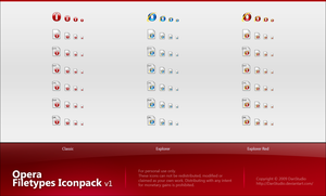 Opera Filetypes Iconpack v1 by DanStudio