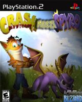 Crash Meets Spyro, PS2 Cover by CrashFreak