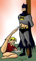 Batman Tickled by solletickle
