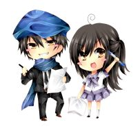 Chibi Sonnya and Reon by ReonMerryweather